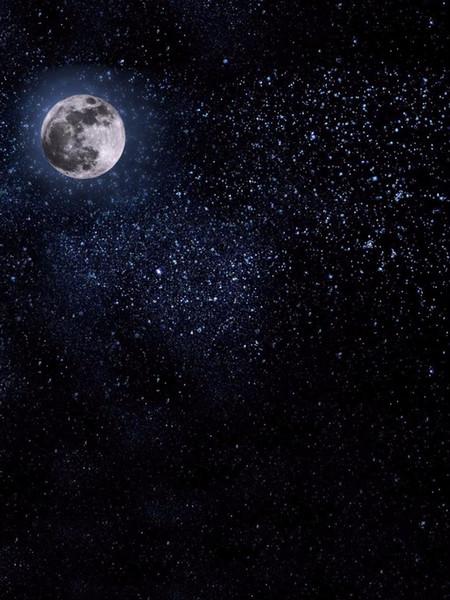 Acquista Fondali Di Cielo Blu Notte Fondali In Vinile Bright Moon