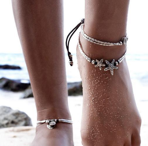 Beach Foot Ring European and American New Starfish Yoga Pendant Anklet