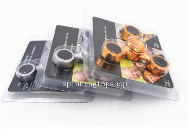 2017 neueste Klinge Gold Silber Schwarz Hand Spinner Metall Spinner Aluminium Fingerspitzen Spiralfinger Gyro Cyclone Torqbar Zappeln Spinner