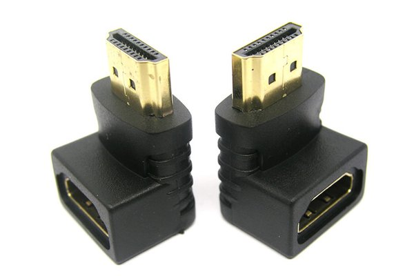 HDMI Male to Female Converter Adapter HDMI M/F L Shaped Right Angle 90 Degree Elbow Video Adapter Connector 200pcs/lot