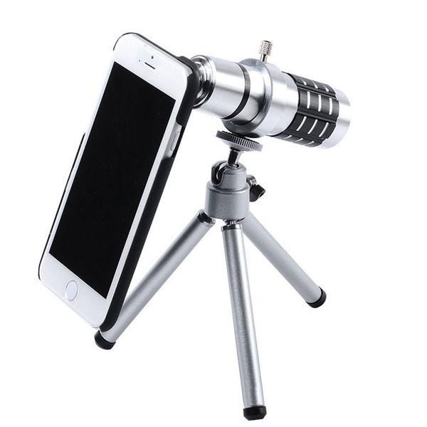 12X Zoom Optical Telescope Camera Lens Kit Tripod Case For iPhone 6 6Plus 5S 5 4S Samsung S6 s6 edge S5 S4 S3 Note 4 3 2