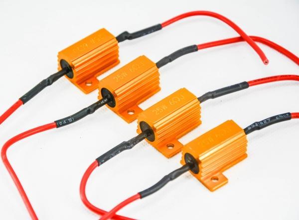 Ems 25 watt 6 ohm gold sicherung led lampe motorrad high power nebel bremssignal last widerstand verdrahtung canbus kein fehler fix led blinken hyper