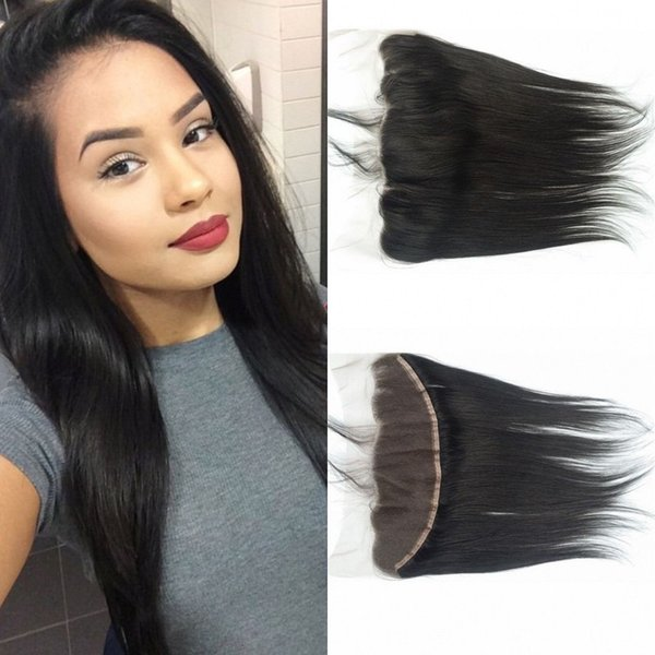 13x4 Straight Frontal Lace Closure Bleached Knots Mongolian Virign Hair Lace Frontal Closure With Baby Hair LaurieJ Hair