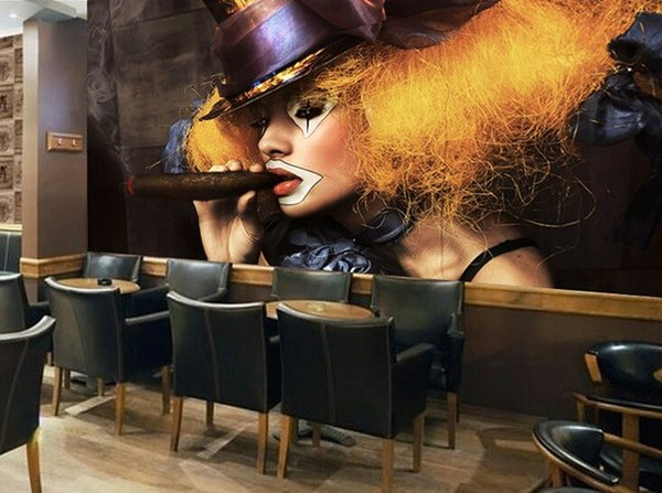 3d room wallpaper custom photo mural Retro clown girl picture decoration painting 3d wall murals wall paper for walls 3 d living room
