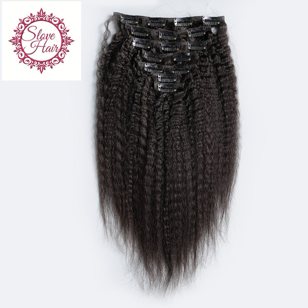 Best Unprocessed 8A Grade Virgin Peruvian Clip In Human Hair Extensions Kinky Straight Clip On Hair Extensions FEDEX Free Shipping