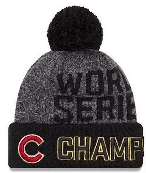 2017 hot sale Baseballl Champs Beanies Pom Knit Hats world Series Sports Cap  champions Top Quality 0f7eb6aa31c