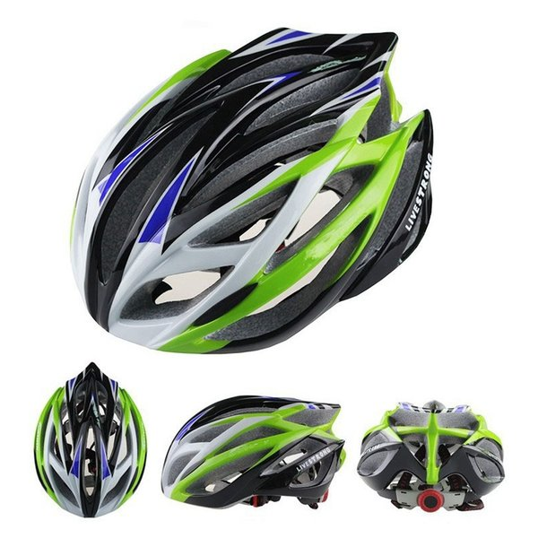 Super Light 220g 21 Holes Road Bike Cycling Helmets Men's Bike Parts Yellow/Green/Blue/Orange/Red/Silver/Yellow Livestrong Bike Helmet