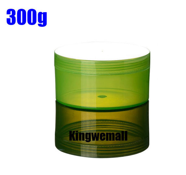 Free Shipping,300pcs/lot 300ml Green Cosmetic PP Cream Jar, 300cc Mask Container ,300g bottle AL01
