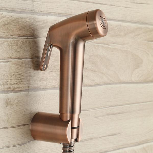 Antique Red bronze Toliet Hand Held Portable Bidet Sprayer ABS plastic Diaper Sprayer Shattaf Complete set Bath shower spray Set