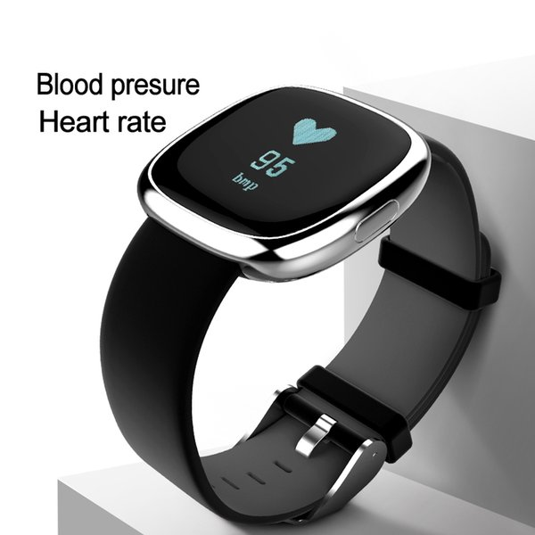 Heart Rate Pulse Monitor Smart Band Fitness Tracker Blood Pressure Bracelet Pedometer for Andriod IOS iPhone Samsung Meizu HR Watch