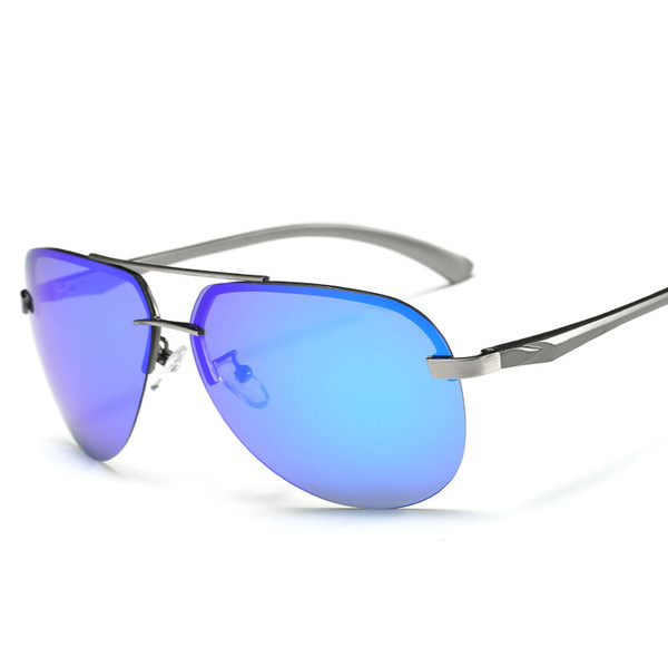 75d6f3d9cc666 Rimless Unisex Polarized Sunglasses Men Women Colorful Frog Mirror Driving  Glasses HD Eyewear Outdoor Oculos De Sol Classic Driving Gafas