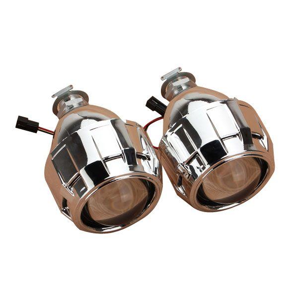2.5 inch Auto Mini Bi-xenon For HID Projector Lens Shrouds Kit Angle DEVIL Halo Eye Headlight H1 H7 H4 H11 9005 9006 LHD