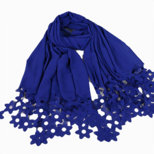 NEW design fashion bubble chiffon laser cut flower headbands hollow shawls hijab wrap muslim scarves/scarf 27 colors