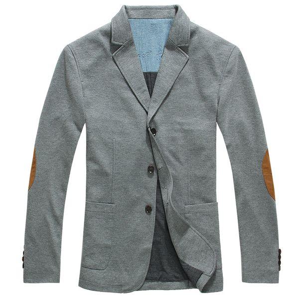All'ingrosso - Lesmart Business Casual Fashion Informal Elbow Patch Splice Slim Fit Suit Ventilate Easy-care Leisure Capispalla Giacche da lavoro