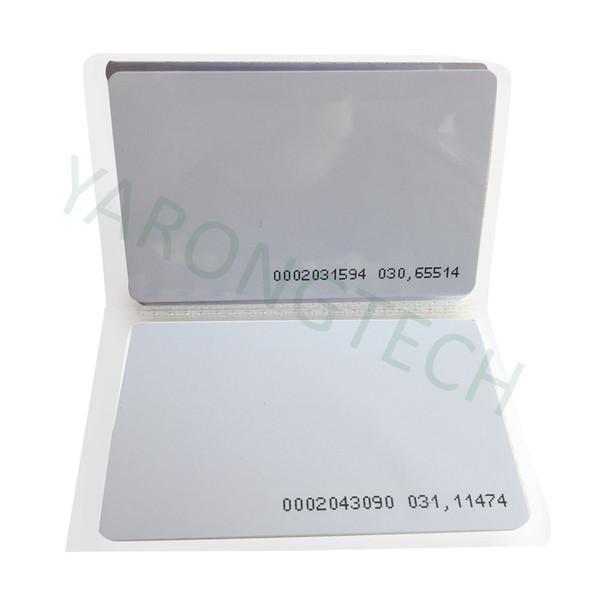 top popular RFID Card 125KHz PVC Proximity Door Control Entry Access EM -0.9mm-100pcs 2021
