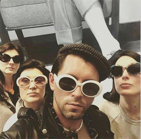 best selling 300pcs 19colors NIRVANA Kurt Cobain Sunglasses Retro Vintage Oval Sun glasses Men Women Punk Rock Shades round Eyewear R006