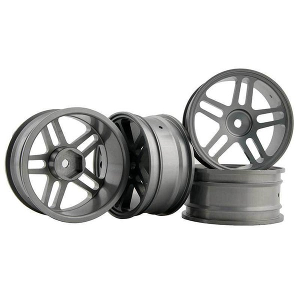 RC Aluminum Wheel 4pc D:52mm W:26mm Fit HSP HPI 1:10 On-Road Drift Car Rim 122T