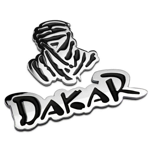 Auto Car 3D Emblem Chrome Sticker Decal Badge DAKAR Logo 2 colors 100% Metal New Sport Racing Drift Motorsport Street Racing
