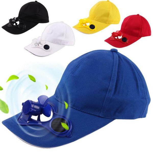 Solar Power Hat Cap Cooling Fan For Golf Baseball Sport Summer Outdoor Solar Sun Cap With Cooling Fan Snapbacks Baseball Cap OOA1261