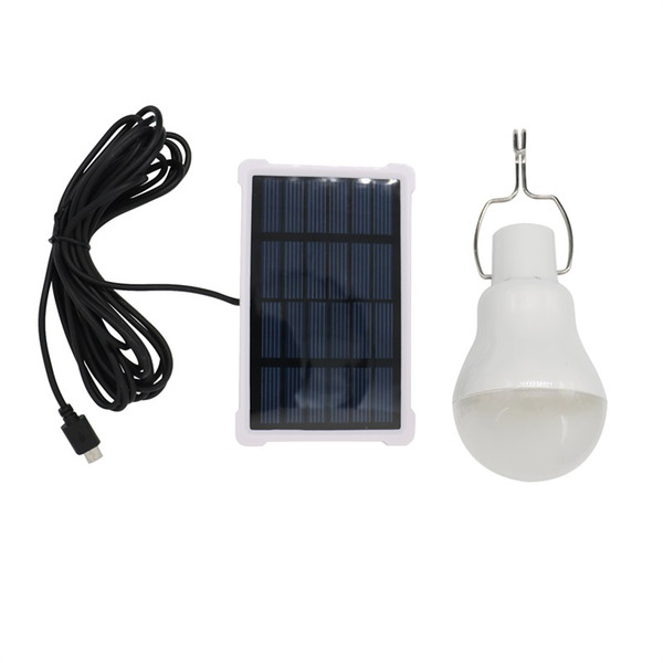 Solar Powered Lamp Portable Solar Panel Led Bulb 140LM Energy Saving for Housing Outdoor Activities Emergency