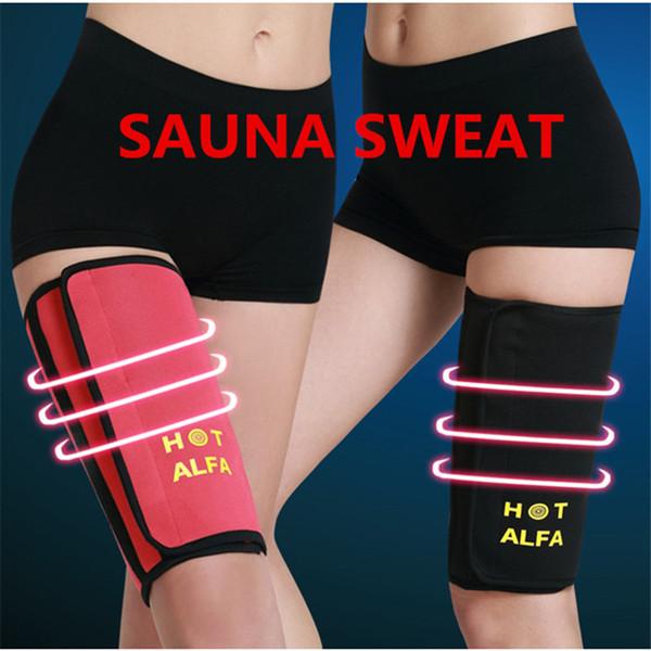 NEW Woman Leg Shaper Sauna Sweat Thigh Calories off Warmer Slender Slimming Legs Fat Thermo Neoprene Compress Massage Belt