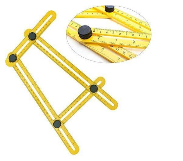 Angle-izer Template Tool Four-Sided Ruler Mechanism Slide Y Measuring Instrument for Handymen, Builders, Craftsmen