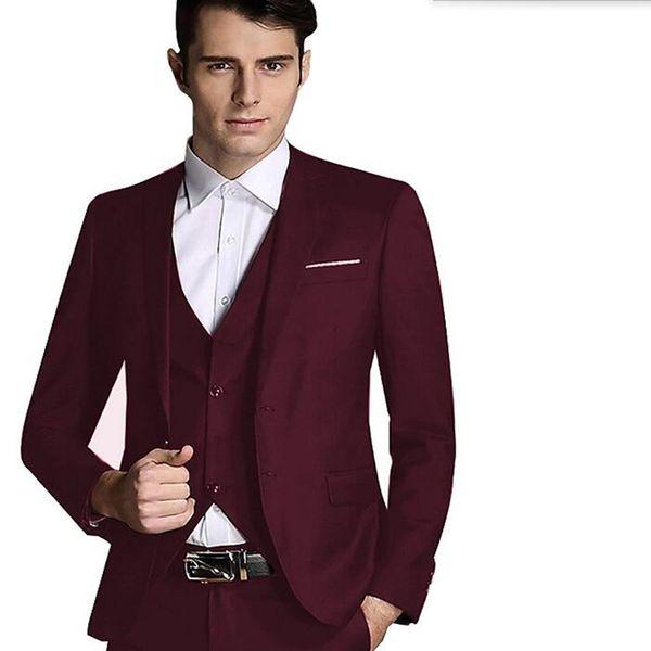 Последние мужские костюмы стильный жених костюмы смокинги высокое качество мужчины свадьба жених интервью костюмы (куртка + брюки + жилет)