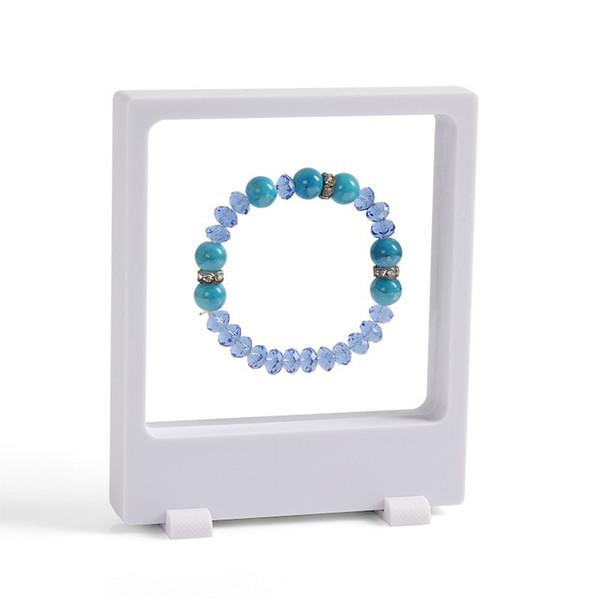 2Pcs 3D transparent Jewelry Display Holder Pendant Earring Storage Showcase PET Membrane Picture Bracelet Display Window Rack Holder 9*11cm