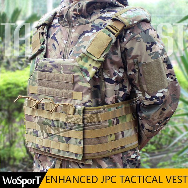 Enhanced Tactical JPC Vest Chest Rig Jumper carrier Airsoft Nylon MOLLE Gear per Paintball Hunting Shooting
