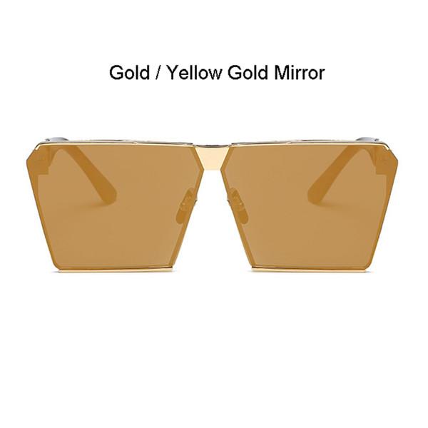 Cadre doré Miroir en or jaune