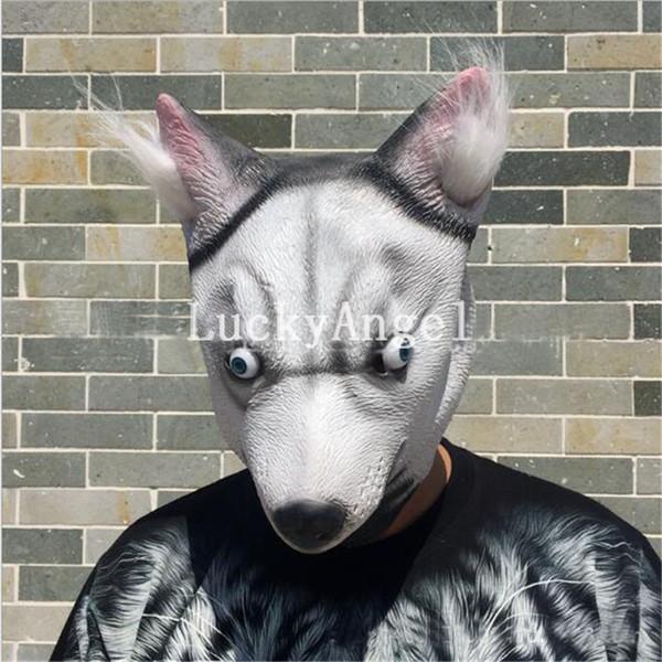 Free Shipping 2017 Hot Sale Pug Dog Latex Mask Novelty Animal Costume Halloween Cosplay Party Mask Dog Head Mask Adult Halloween Accessory