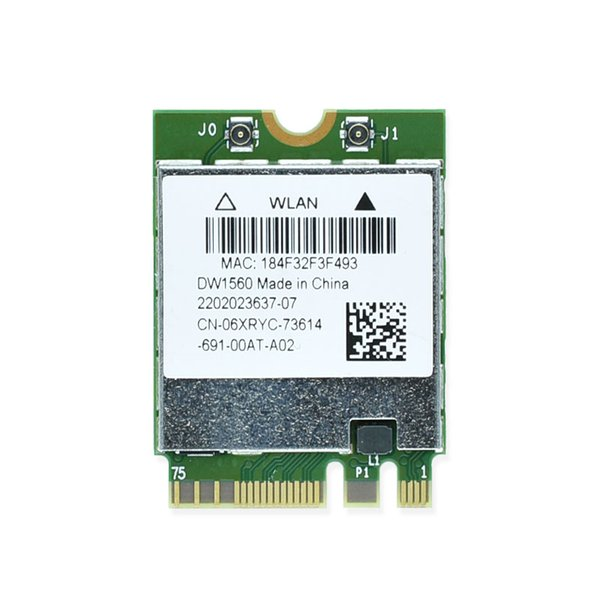 Wholesale- New DW1560 BCM94352Z 2.4&5G 802.11ac M2 NGFF M.2 867Mbps BCM94352 Bluetooth 4.0 WiFi Wireless Network Card