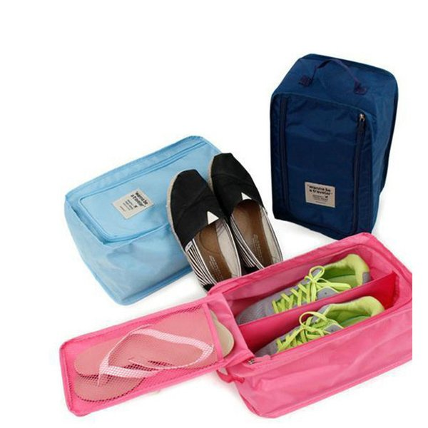Wholesale- Nylon Mesh Travel Cosmetic Portable Tote Pouch Waterproof Bag Portable Shoes Travel Pouch Ventilation Organizer
