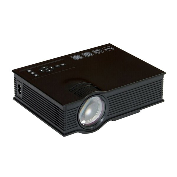 Wholesale-UC40 Mini Projector 3D HD DLP Portable Home Theater LED Light Video LCD VGA HDMI Cinema USB Proyector Beamer