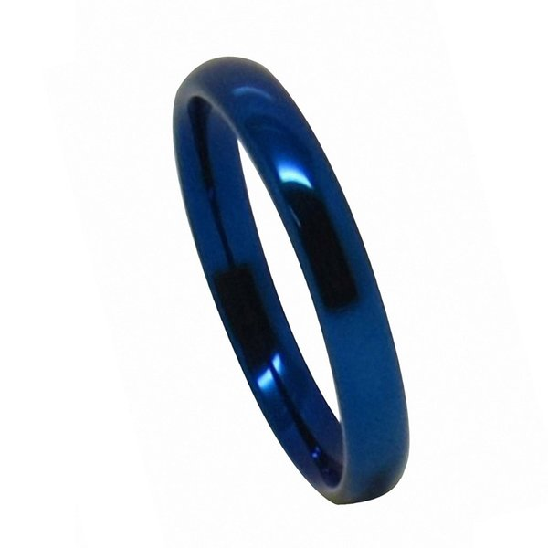 3mm Blue Plating Tungsten Carbide Ring
