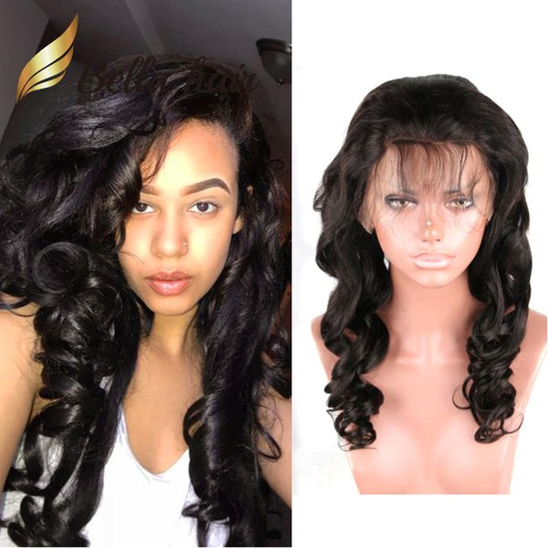 Bellahair Lace Frontal Wigs Wet and Wavy Hair 100% Unprocessed Virgin Human Hair Lace Wig Loose Wave