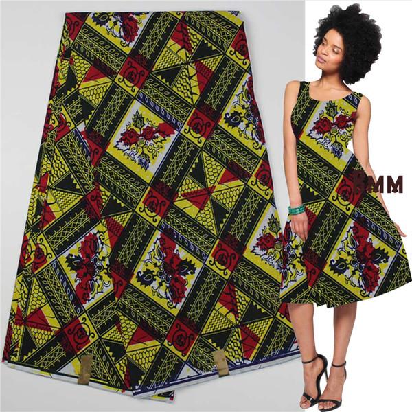 Flambant neuf 2018 Bmm Guinea Brocade Fabric Pagne Africain Super Wax Hollandais  PZ16