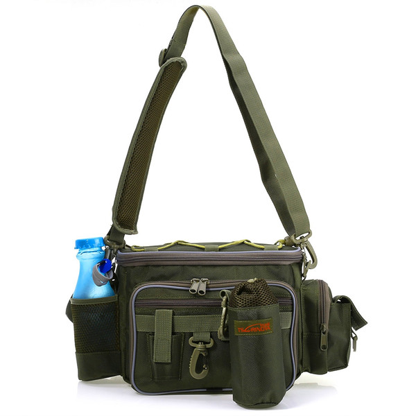 Trulinoya Multifunction Fishing Bags Bolsa Pesca Outdoor Fishing Waist Pack Lure Bag Shoulder Fishing Tackle Bag Fish Tools +B
