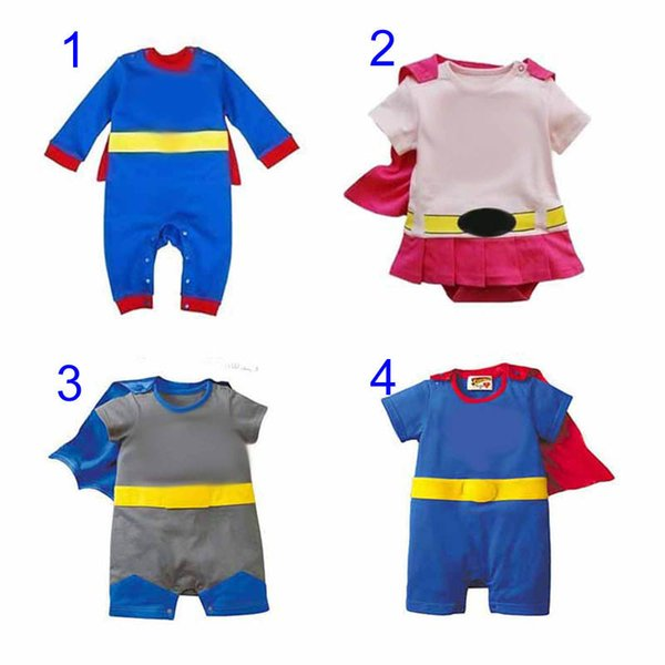 best selling Four Styles Baby One-Piece baby Rompers boys girls style Romper Girl Avengers Rompers Cartoon Clothes