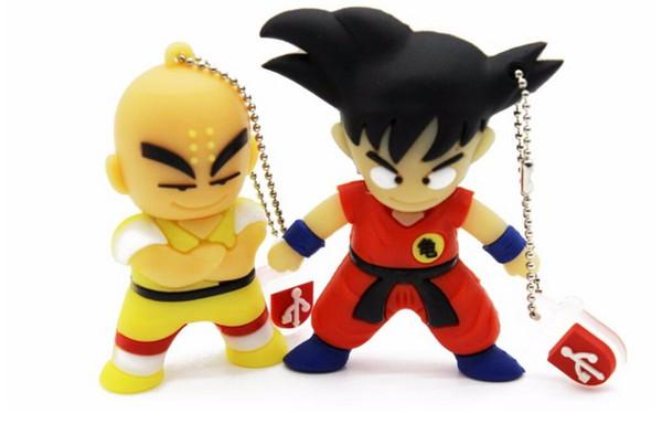 Cute Goku Kuririn Gifts pen drive 4GB 8GB 16GB 32GB Dragon Ball Usb Flash Drive Pendrive memory stick USB creativo Wholesale Unique Flash