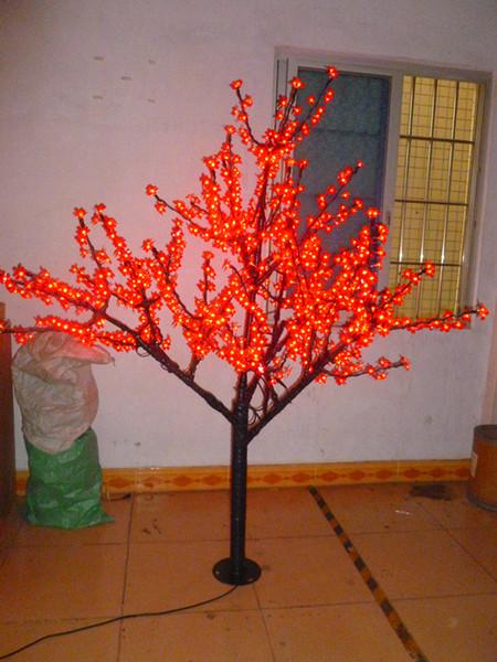 Ücretsiz Gemi Noel Tatili düğün Bahçe veranda kırmızı LED kiraz Çiçeği Ağacı Işık 1152 adet LED Ampuller 2 m Yükseklik 110/220 VAC Pembe Yağmur Geçirmez