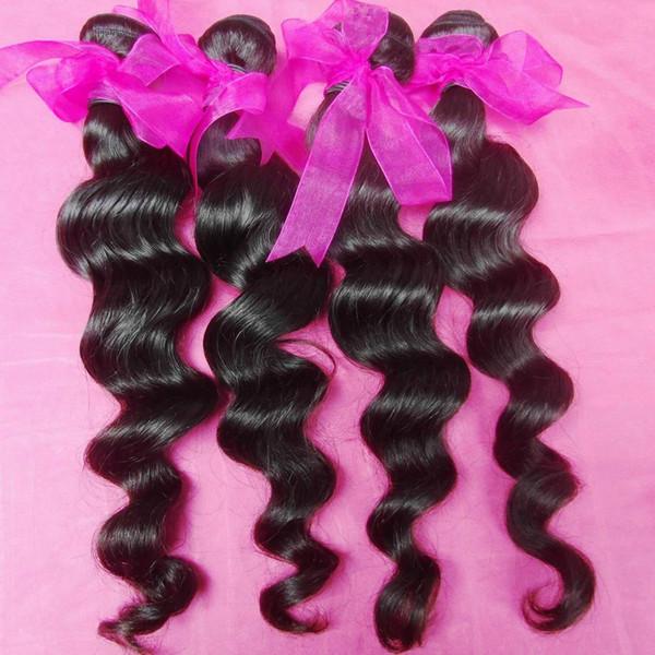 400 g / lote direto doador virgem indiano cabelo humano onda solta mais barato não processado cabelos No vapor
