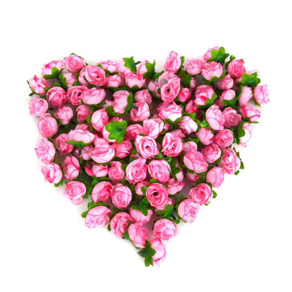 Wholesale-100pcs/a set Rose Artificial Silk Flower Heads Wedding decoration Craft optional color