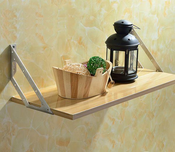 top popular L style hanger furniture fitting corner bulkhead bracket triangle hardware Shelf Bracket Wall Baffle Bracket 2021