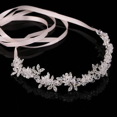 Wedding Bridal Bridesmaid Crystal Headband Hairbands Tourism Vacation Tiaras Headband New Fashion Wreath Headdress Hair Accessories 2018