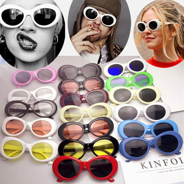 Moda NIRVANA Kurt Cobain Gafas de sol para hombres Moda para mujer turismo playa Alien Oval Gafas de sol 19 color