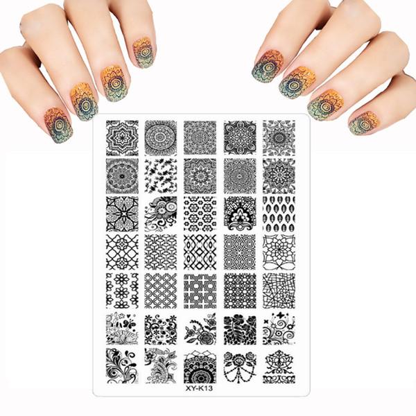 Wholesale 2016 Acrylic Fashion New Nail Art Templates Plastic Lace ...