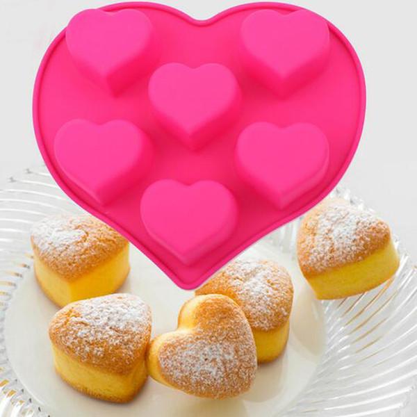 Strumenti di trasporto gratuiti per pasticceria Strumenti per pasticceria Stampo per dolci in tiramisù Cuore con stampi per dolci in silicone