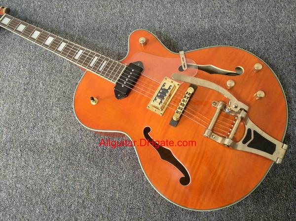 2017 new brand guitar orange 6120 JAZZ Hollow Body electric guitar in stock China guitars