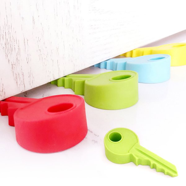 best selling Wholesale- creative silicone y shape door block door stopper home decoration h key Children Gift Cute Lovely Candy Color 45